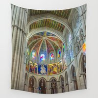 madrid Wall Tapestries featuring Almudena Cathedral, Madrid by Svetlana Korneliuk