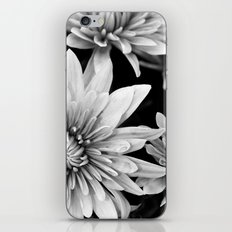 black and white flowers,.  iPhone & iPod Skin