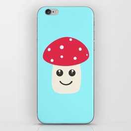 Cute red mushroom iPhone Skin