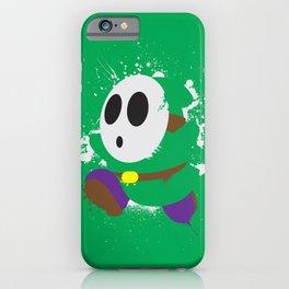 Green Shy Guy Splattery Design iPhone Case