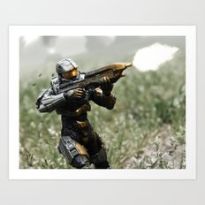 Covering Fire Art Print