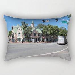 Alisal Rd Street Scene Solvang CA Rectangular Pillow