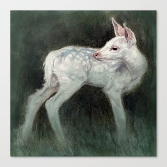 A Forest Ghost Canvas Print