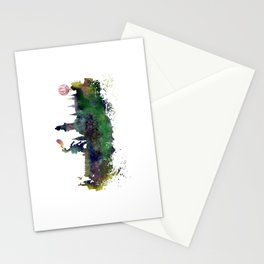 Cracow skyline Stationery Cards