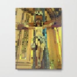 Abstract Jesus Metal Print