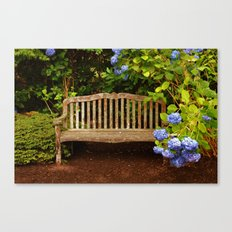 Bench in Blue Canvas Print