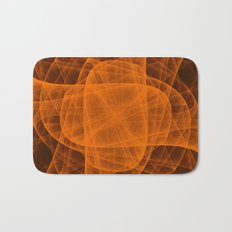 Eternal Rounded Cross in Orange Brown Bath Mat