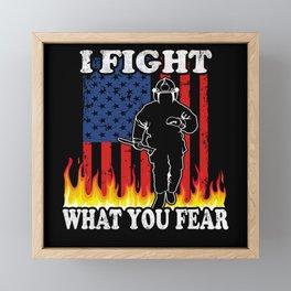 Fireman fight Fire Framed Mini Art Print