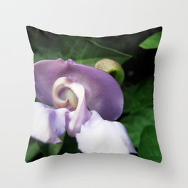 Early Days for a Purple Bloomer in Spring Throw Pillow