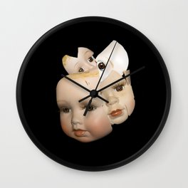 Little Broken Dolly Face - Halloween VI Wall Clock