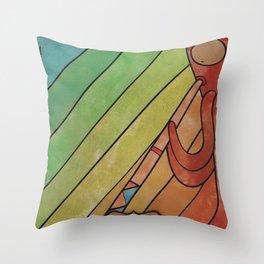 CIORIØOUITTI From LinebOo0O (Didgeridoo) Throw Pillow