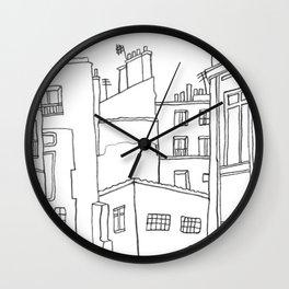 Paris Poetic Buildings Wall Clock
