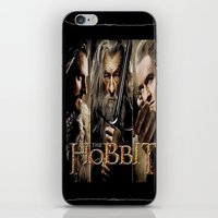 the hobbit iPhone & iPod Skins featuring  Hobbit by ira gora