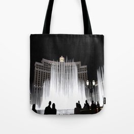 Nighttime at the Belagio Fountain, Las Vegas, Nevada Tote Bag