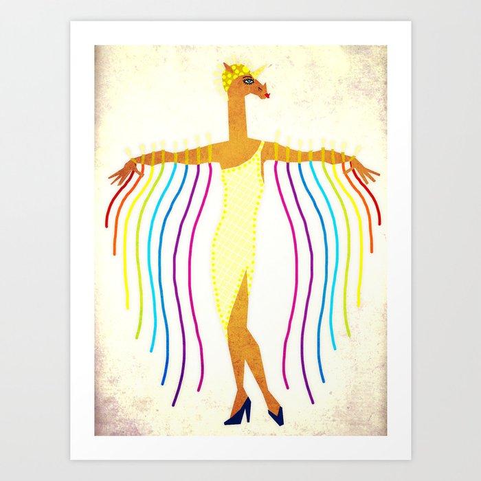 Erte Unicorn Kunstdrucke