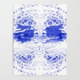 Deep Ocean Blue with White Caps Poster