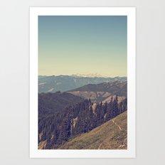 Last Days of Summer Hike Art Print