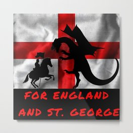 For England And St George Metal Print