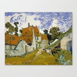 "Vincent van Gogh ""Street in Auvers-sur-Oise"" Canvas Print"