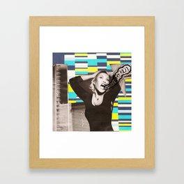 Get out! Framed Art Print