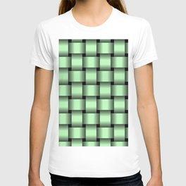 Large Light Green Weave T-shirt