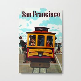 Vintage San Francisco Travel  Metal Print