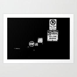 Stop Signs Art Print