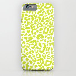 Chartreuse French Leopard Print iPhone Case