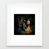 mad hatter Framed Art Prints featuring Mad Hatter by Reagan Lam