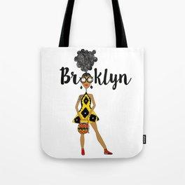 curly hair has Brooklyn Glasses Tote Bag