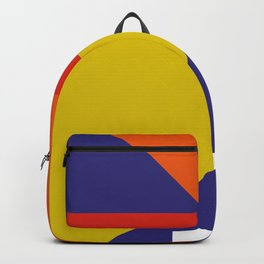 Random colored parallelepipeds flying in a cool blue space Backpack
