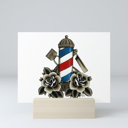 Barber's Life Mini Art Print