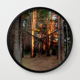 The pine forest Wall Clock