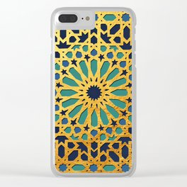-A1_2- Golden Original Traditional Moroccan Artwork. Clear iPhone Case