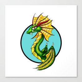 Green Water Dragon Canvas Print