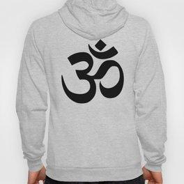 Minimal Black & White Om Symbol Hoody