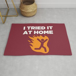 I tried it at home Rug