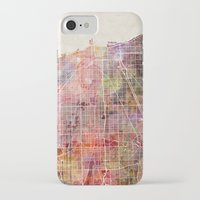 chicago map iPhone & iPod Cases featuring Chicago map by MapMapMaps.Watercolors