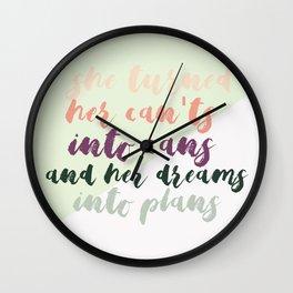 She Turned Wall Clock