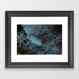 Feel the waves Framed Art Print
