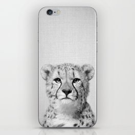 Cheetah - Black & White iPhone Skin