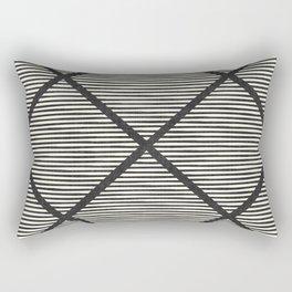 Chisel In Black & White Rectangular Pillow