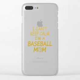 I'M A BASEBALL MOM Clear iPhone Case