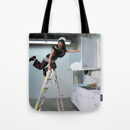 Clown On The Ladder Tote Bag