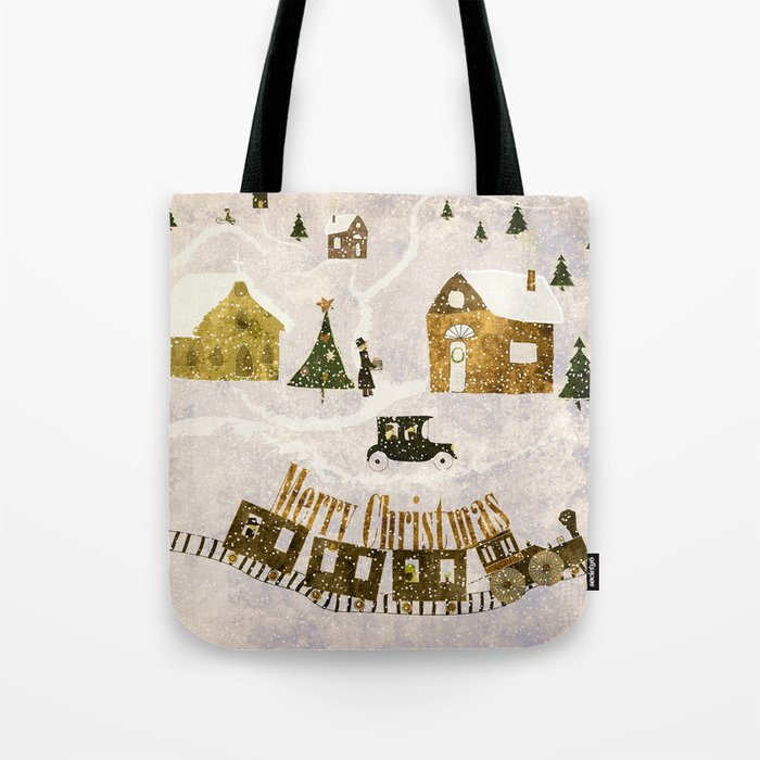 New year's design Merry Christmas grunge design Tote Bag