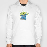 toy story Hoodies featuring Toy Story | Pizza Planet Alien by Brave Tiger Designs