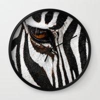 stripe Wall Clocks featuring Stripe by nigel3