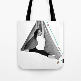 AntiGravity Butterfly Pose Tote Bag