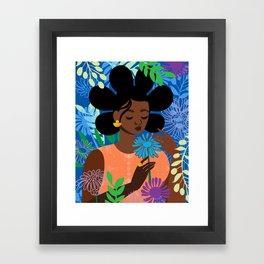 Aster in September Framed Art Print