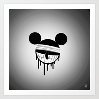 mickey Art Prints featuring Mickey by ConvictionArt